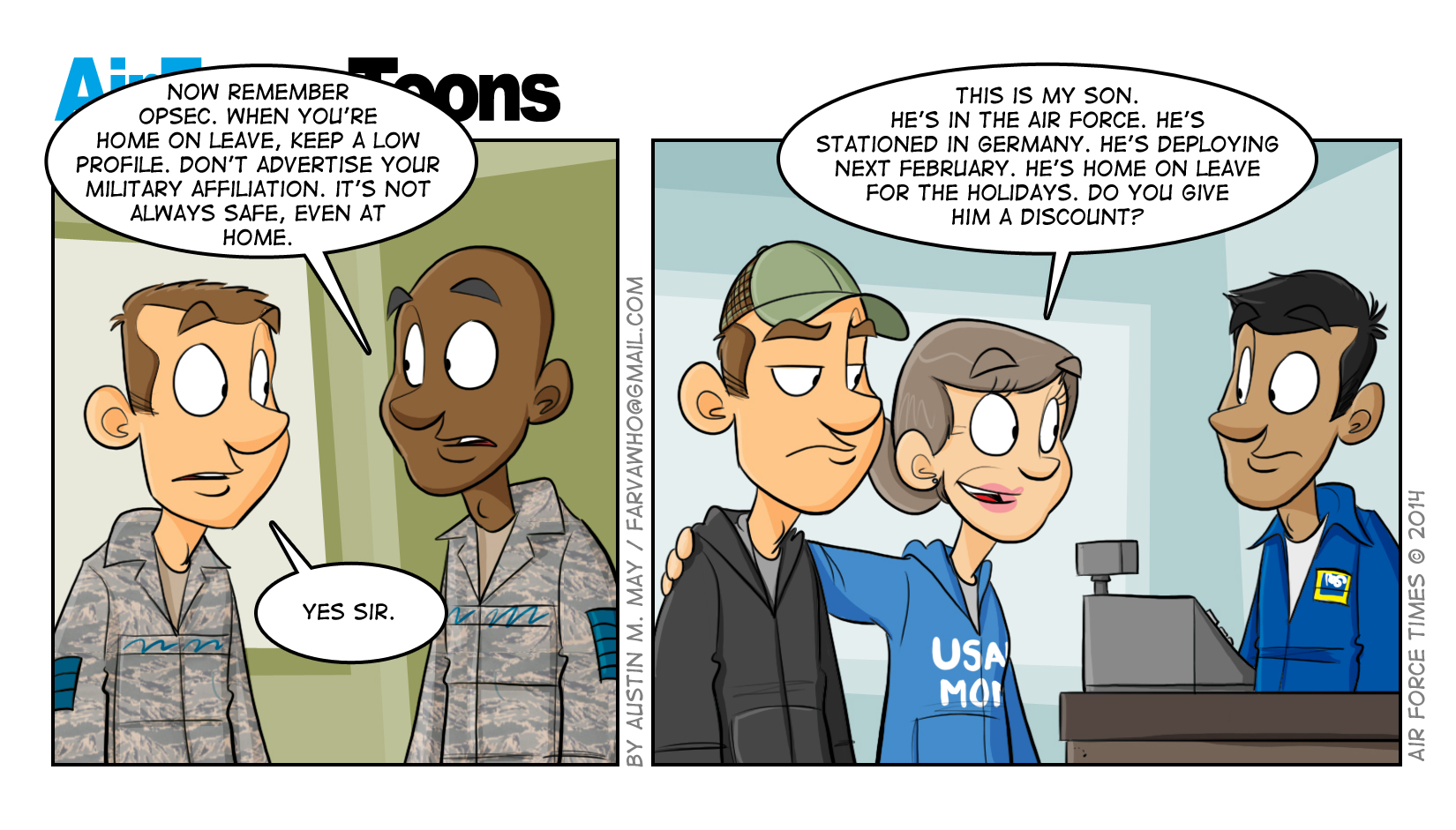 Air Force Times' Jan. 21 issue comic