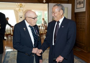 Retired Air Force Lt. Col. Richard Cole and former Deputy Commander-in-Chief of the Republic of China Air Force Patrick Chen.Courtesy of the Taipei Economic and Cultural Representative Office in the United States.