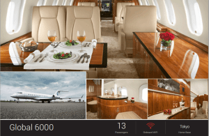 Global 6000 for charter by Jet Edge, based RJAA Tokyo