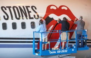 Rolling Stones Private Jet