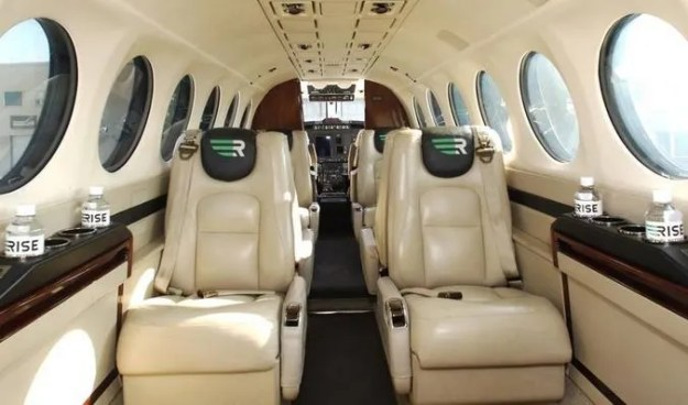 Rise Texas King Air private charter cabin