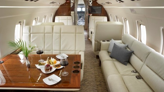 Cabin photo of Challenger 601 new-to-charter, refurbished 2018.