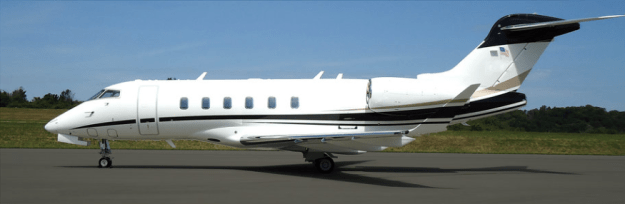 Image of Challenger 350 jet now available for charter