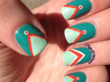 Teal and Orange Chevrons | Flight Of Whimsy