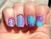 teal and purple flight of whimsy