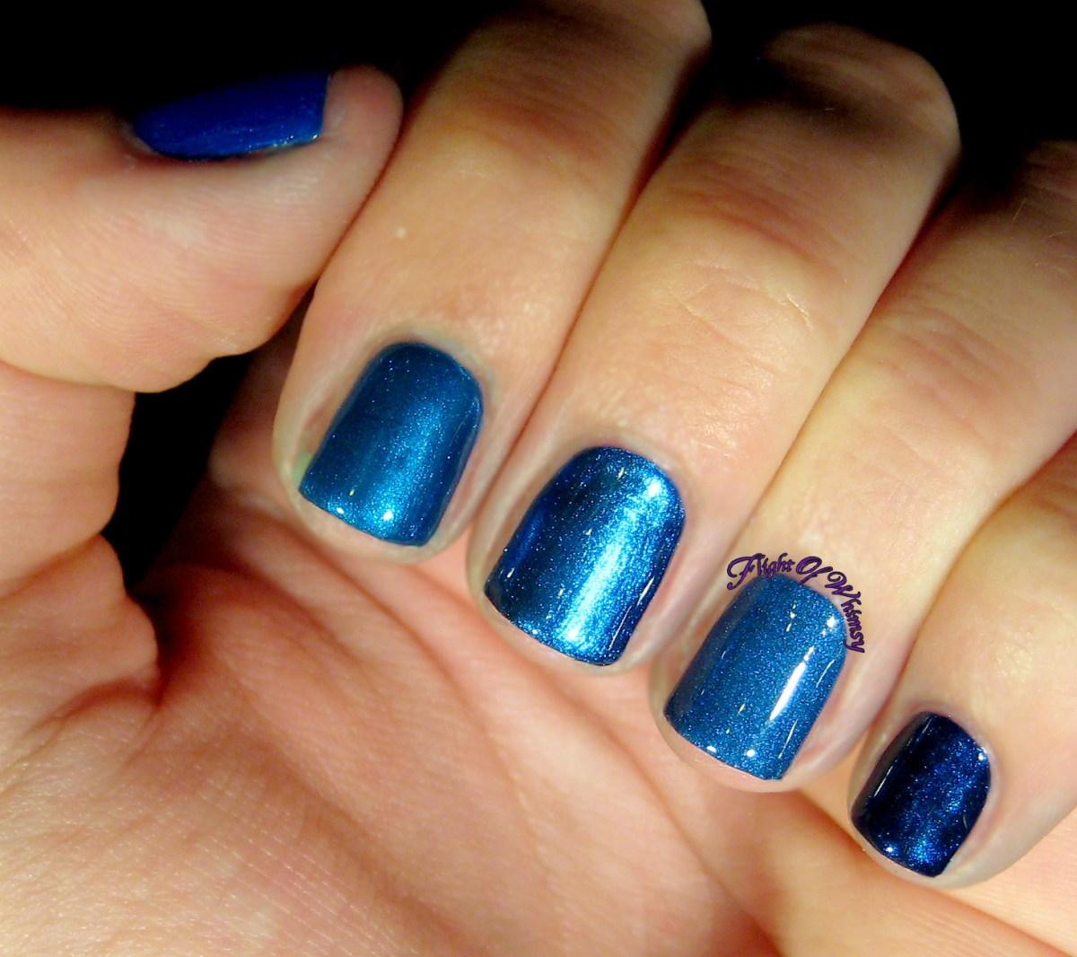 tiny nails metallic blue mish-mash