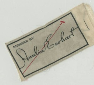 Earhart clothing label