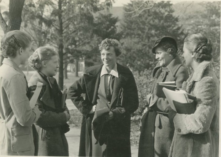 Earhart and Female Students