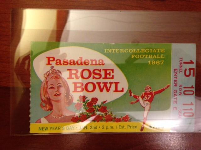 Ross Rose Bowl Ticket