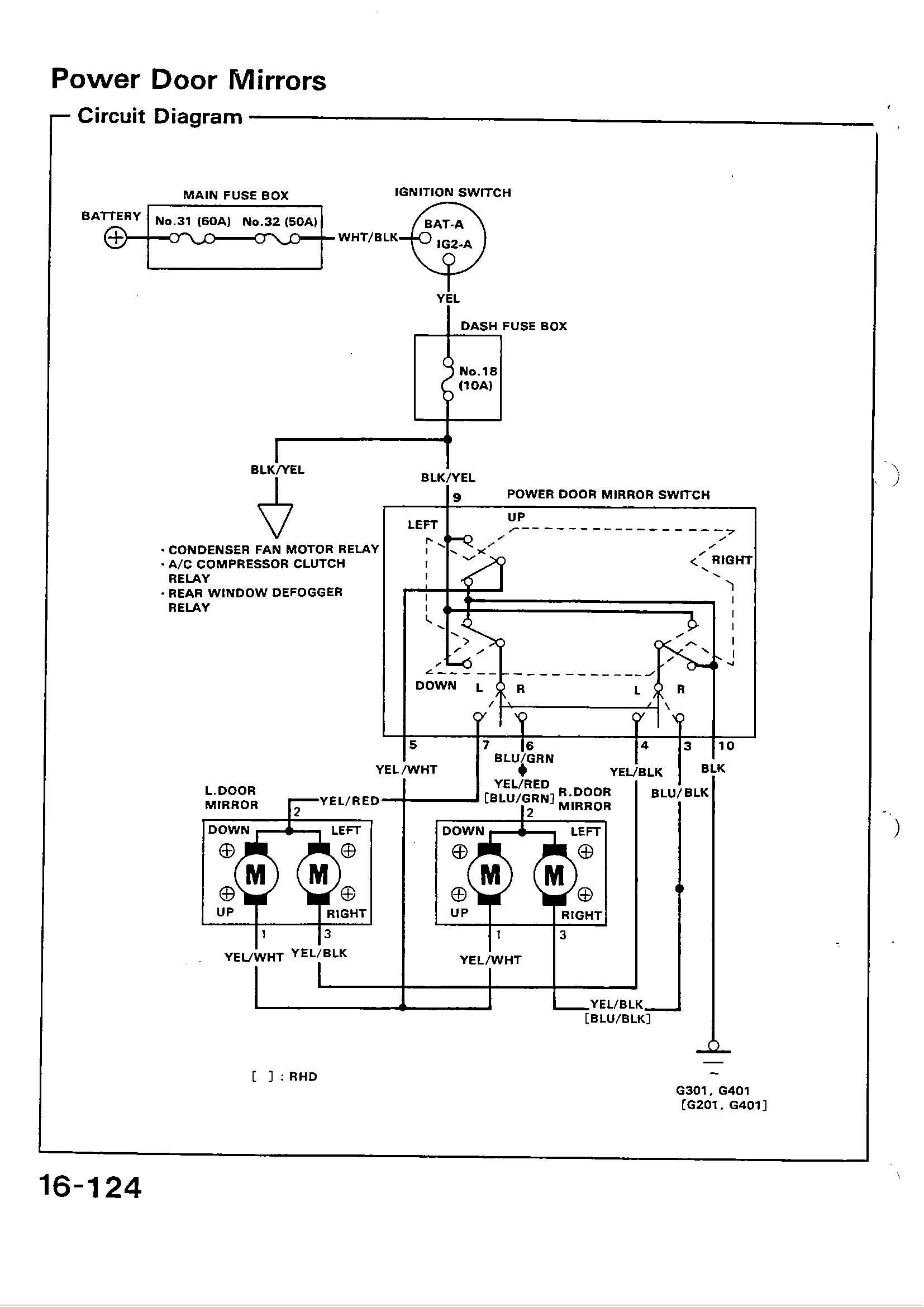 Civic Main Relay Wiring Diagram Schematics Diagrams 94 Honda Lx Crx 29 Images 2000 96