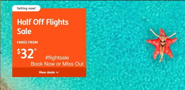 Half Price Aussie Flights Now On Sale