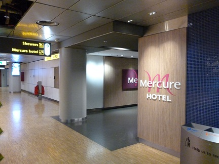 Mercure hotel and showers at Schipol Airport Amsterdam