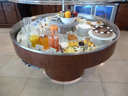 Food at the Emirates Business Class Lounge Johannesburg
