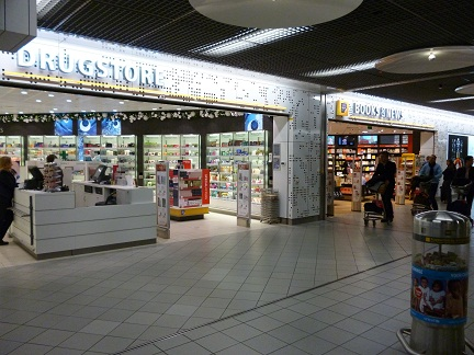 Various shops at the Holland Boulevard at Schipol Airport