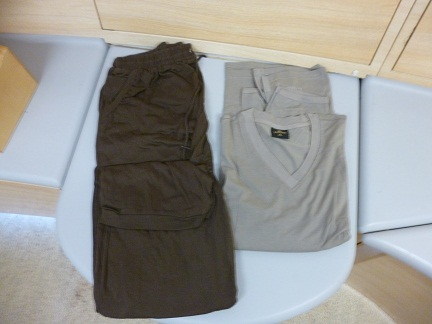 Emirates First Class Pyjamas received when you fly First Class on the Emirates A380