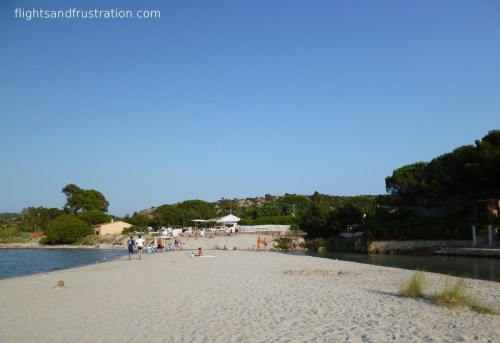 Leading up to the beach resort at Porto Taverna
