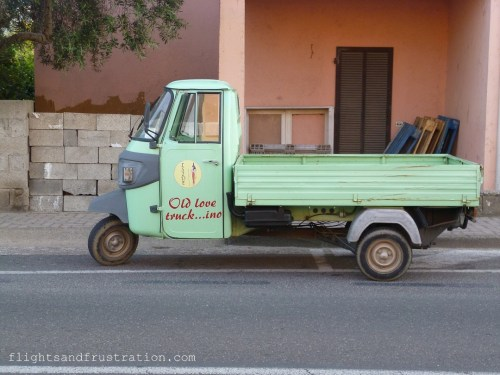 A truck we found parked in Porto San Paolo