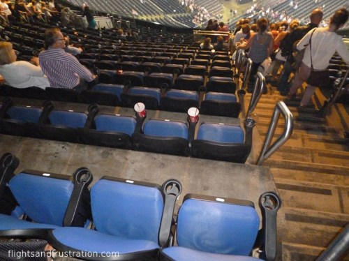 Seats with drink holders at The O2 Arena