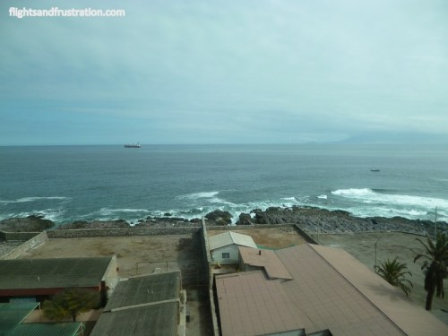 My sea view from the Radisson Hotel Antofagasta