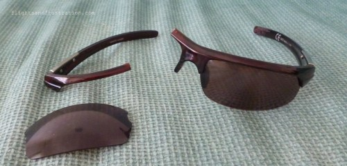 Sunglasses bought in Budoni, Italy were also an unexpected expense