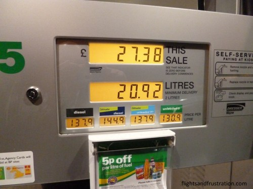 Actual cost at the pump