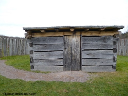 The reconstructed hut inside Fort Necessity