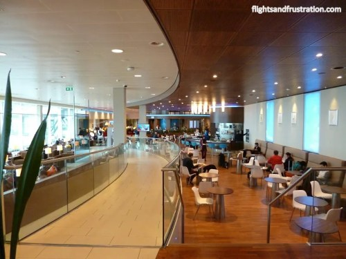 Inside the KLM Crown Lounge at Amsterdam Schipol Airport
