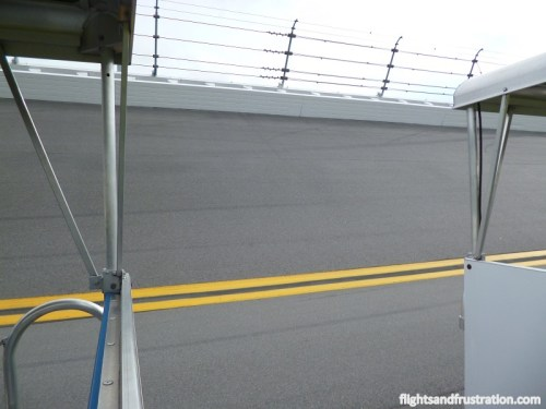 This shows you how steep the bank incline is on the Daytona raceway track