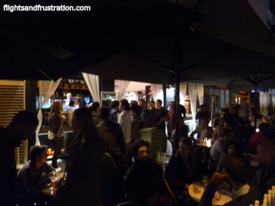 A busy night for coffee shops at the white night Melbourne festival