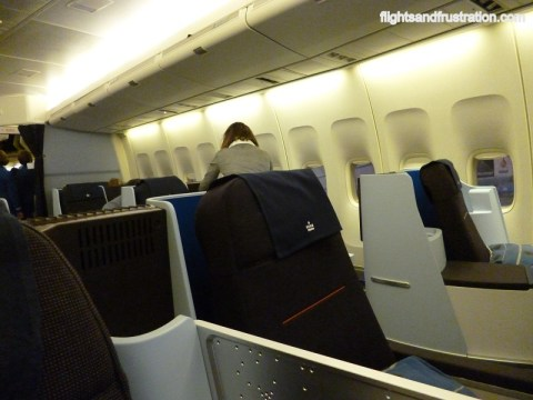 Inside the KLM Business Class cabin