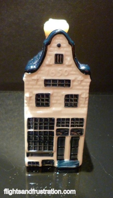 Porcelain Dutch house given as a souvenir on long haul KLM Business Class flights