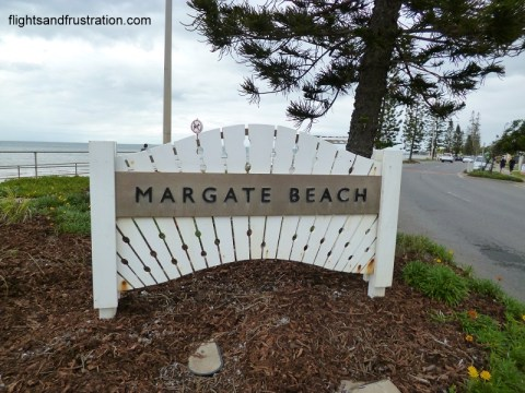 Sign for Margate Beach in Queensland