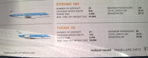 There are 23 Fokker 70s in the KLM fleet according to the Holland Herald