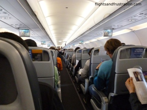 LAN Airlines Economy Class was full