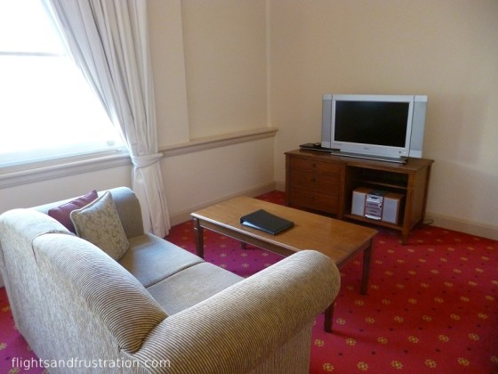 Lounge area in Melbourne Serviced Apartments