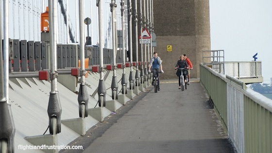 The Humber Bridge is the longest single span bridge in the world which you can cycle across