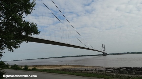 View from close to The Humber Bridge Country Park Inn - Humber Bridge Facts
