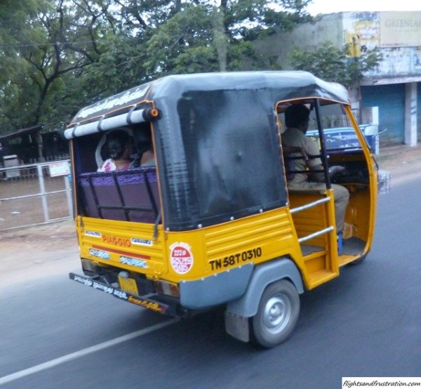 A Tuk-Tuk in Tamil Nadu, India