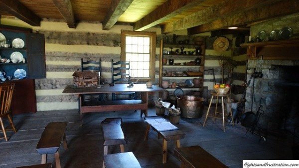 A peak inside the reconstructed Robert Hanna's Tavern