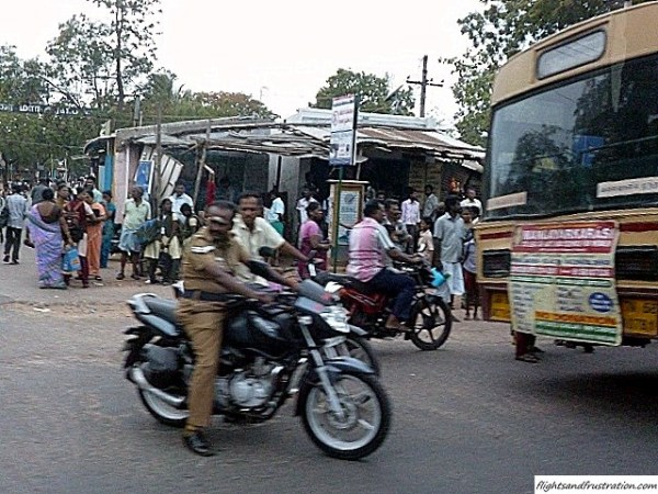 Get on your bike Indian style, helmet optional