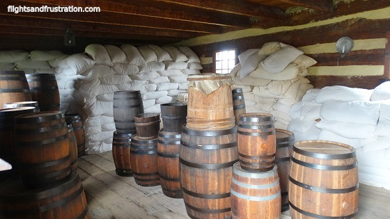 Supplies in storage at Fort Ligonier, one of the museums in pa