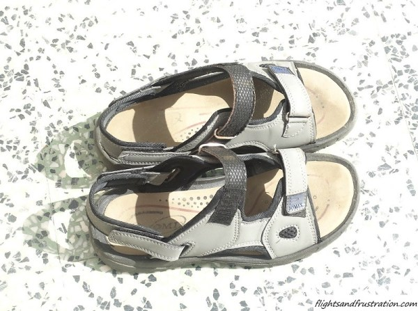 Sandals make a great choice of footwear for hot climates