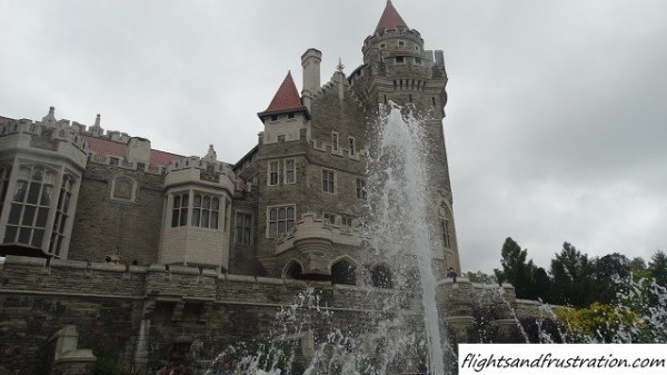View of Casa Loma from the rear gardens
