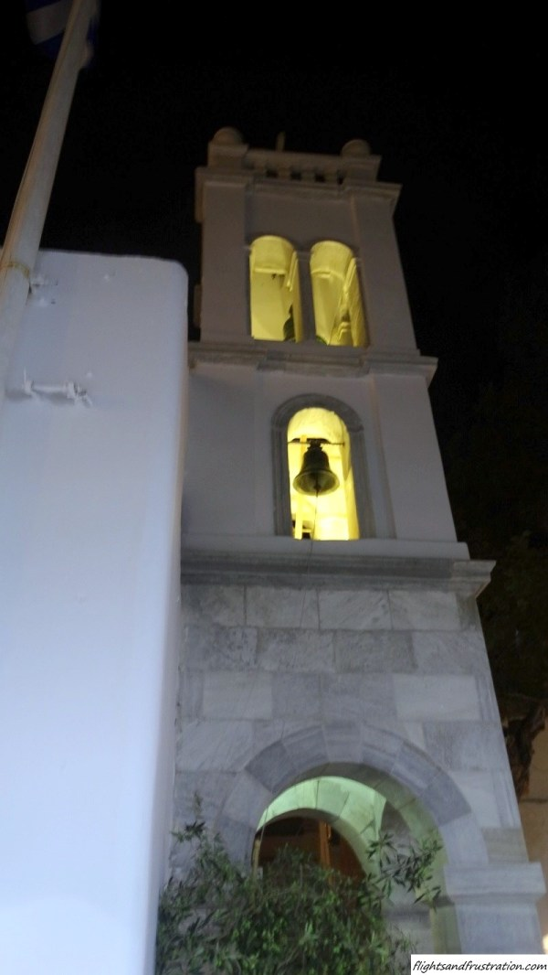 Bell tower in Mykonos Town