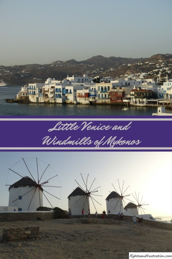 Little Venice and Windmills of Mykonos Greece