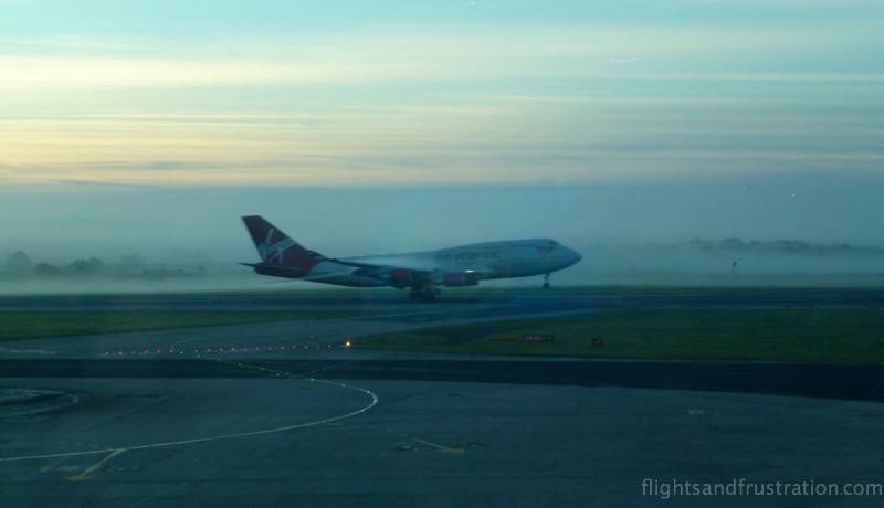 Virgin plane landing view from airport lounges manchester airport t3
