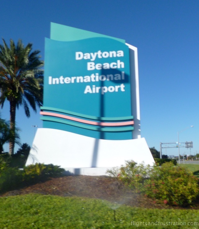 Daytona Beach Airport sign