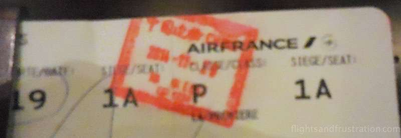 My first class ticket for Air France air france first class review