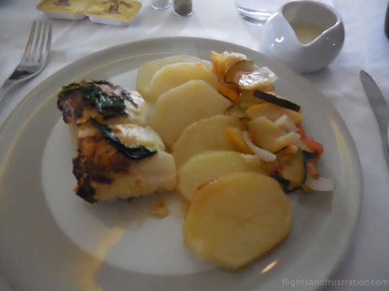 My main dish in flight air france first class review