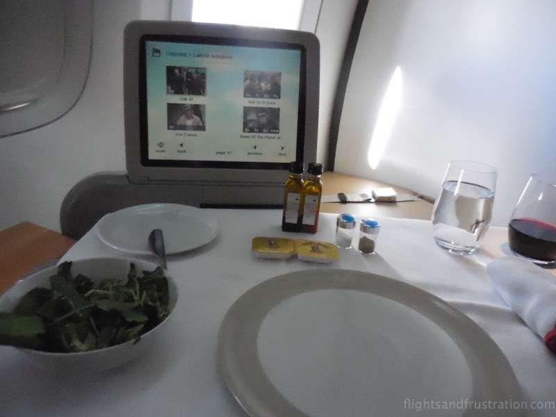 The TV screen was small for a First Class seat air france first class review
